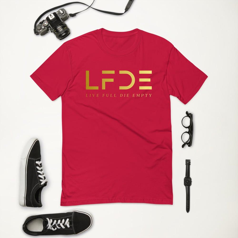 Image of Gold Logo Men FittedT-shirt