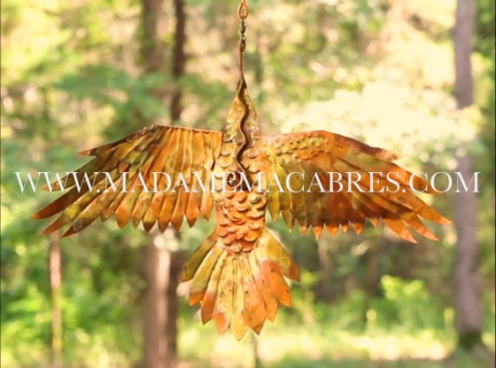 Image of Copper Raven - Wind Spinner