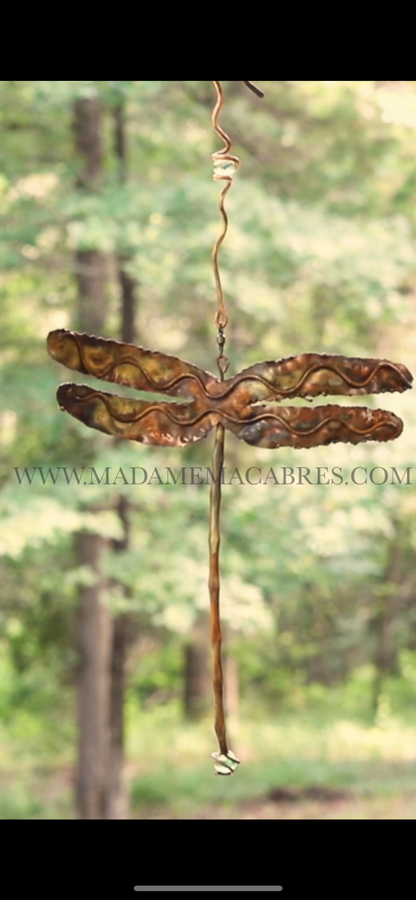Image of Copper Dragonfly - Wind Spinner