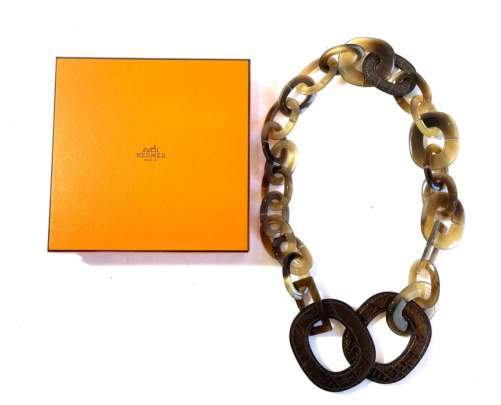 Image of Hermès Isabella Duncan Lariat Necklace 674-3870
