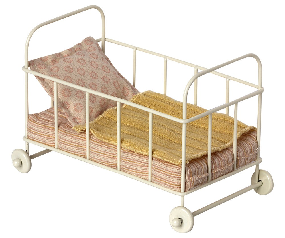 Image of Maileg - Cot Bed Micro Rose (Pre-order)