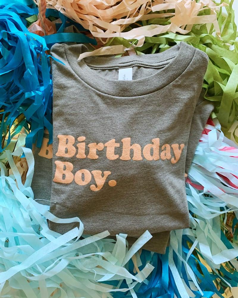 Image of BIRTHDAY BOY TEE (OLIVE)