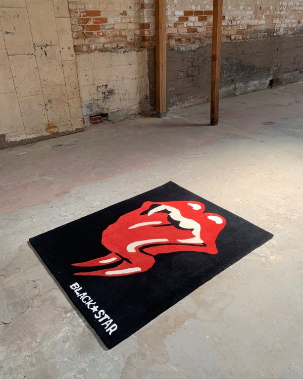 Image of Serpents KISS wool rug