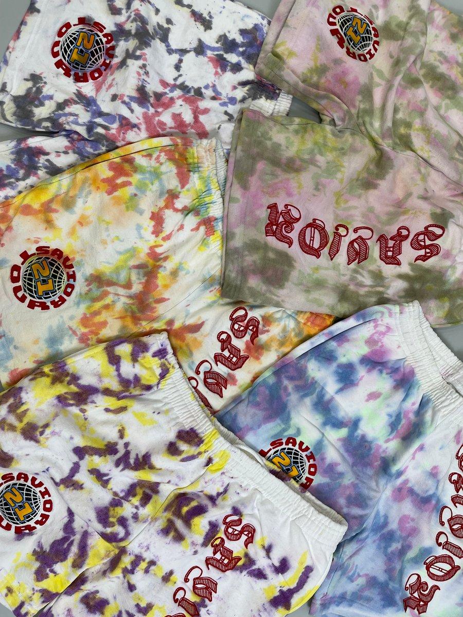 Image of Savior Sweat Shorts x Color Scheming- Tie Dye