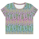 Image 3 of Corny All-Over Print punny Crop Top Tee