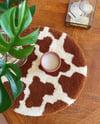 Cow Print Table Rug