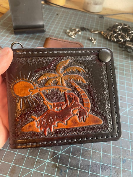 Image of Brawler Wallet. Death can wait