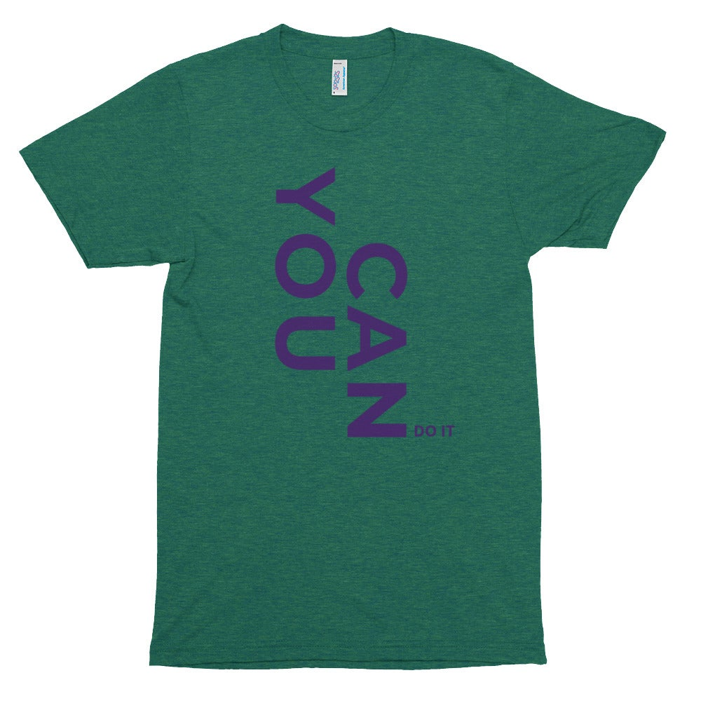 Image of You Can Do it Unisex Tri-Blend Track Shirt