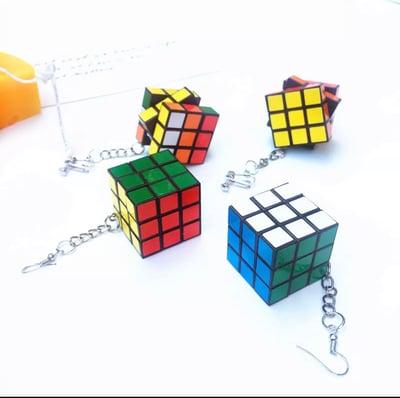 Image of 3D Cube Earrings (Functional)