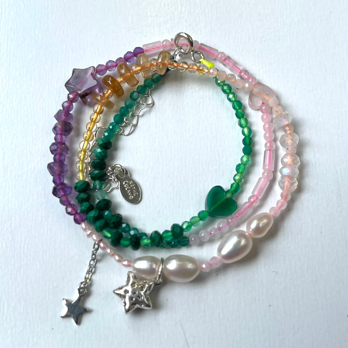 Image of two stars necklace