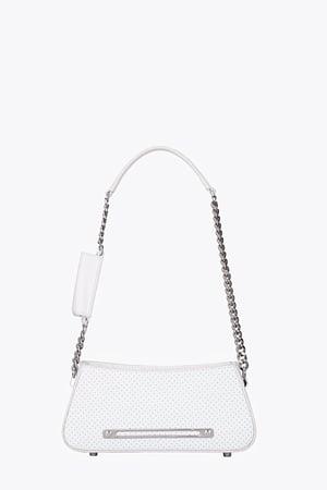 PLACEBO LIPS POCKET SHOULDER BAG (WHITE)