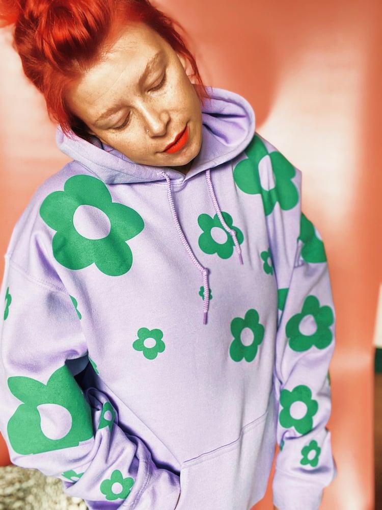 Image of Lilac floral hoodie