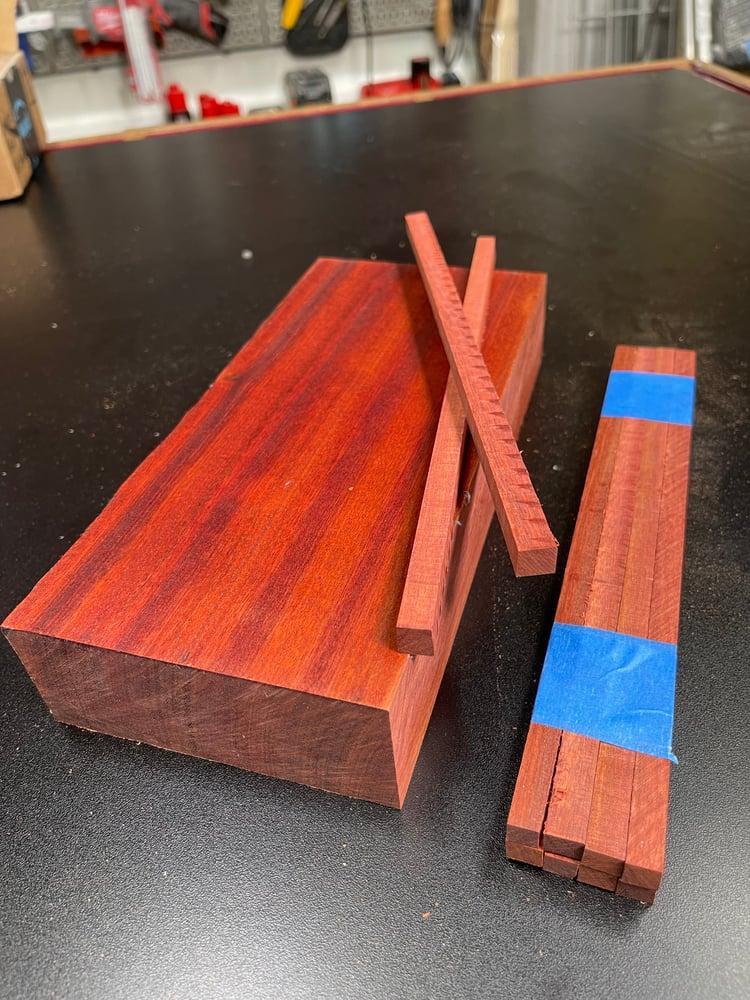 Image of Blood Wood Chopstick Blanks - Sets Of 8