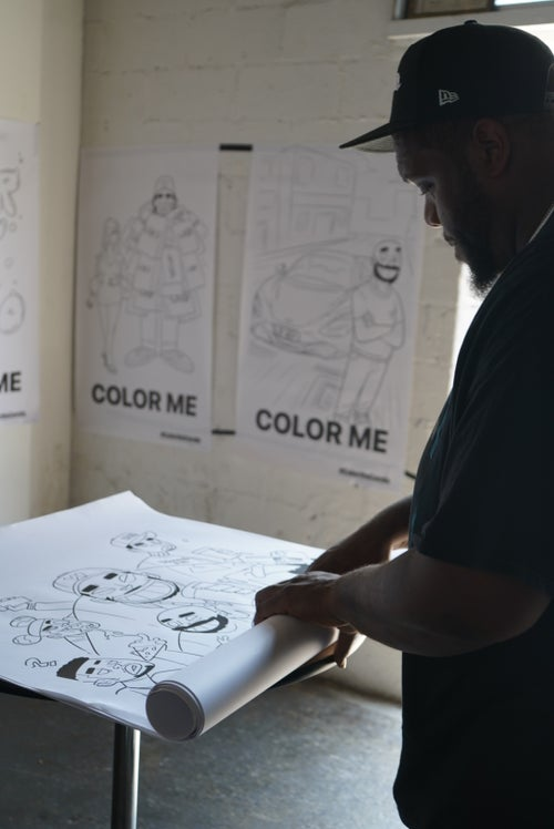 """Image of Mystery Life Size """"Color Me"""" Coloring Page"""