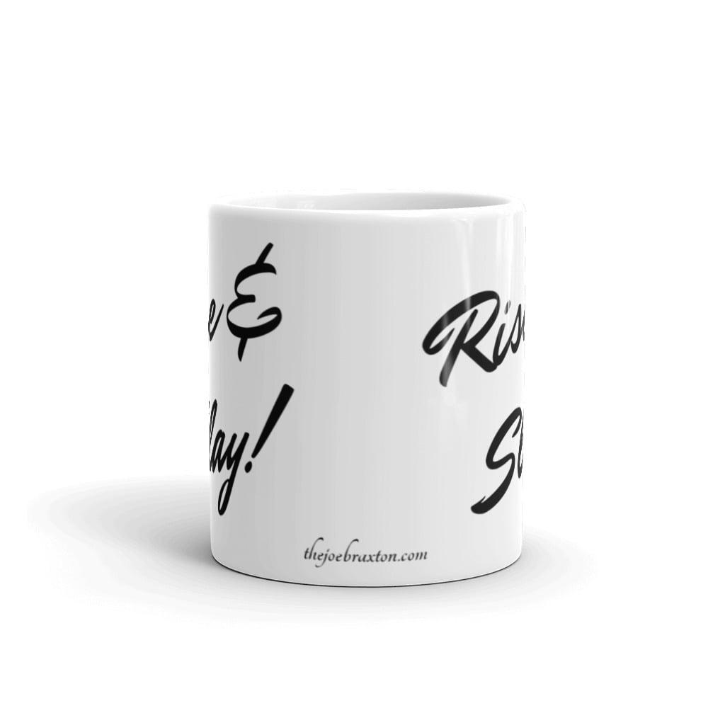 Image of Rise & Slay! White glossy mug