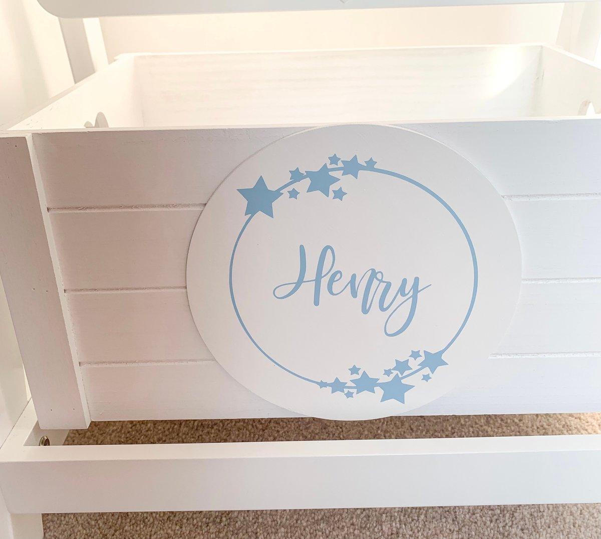 Image of Children's White Star Vanity Mirror & Personalised Storage Box