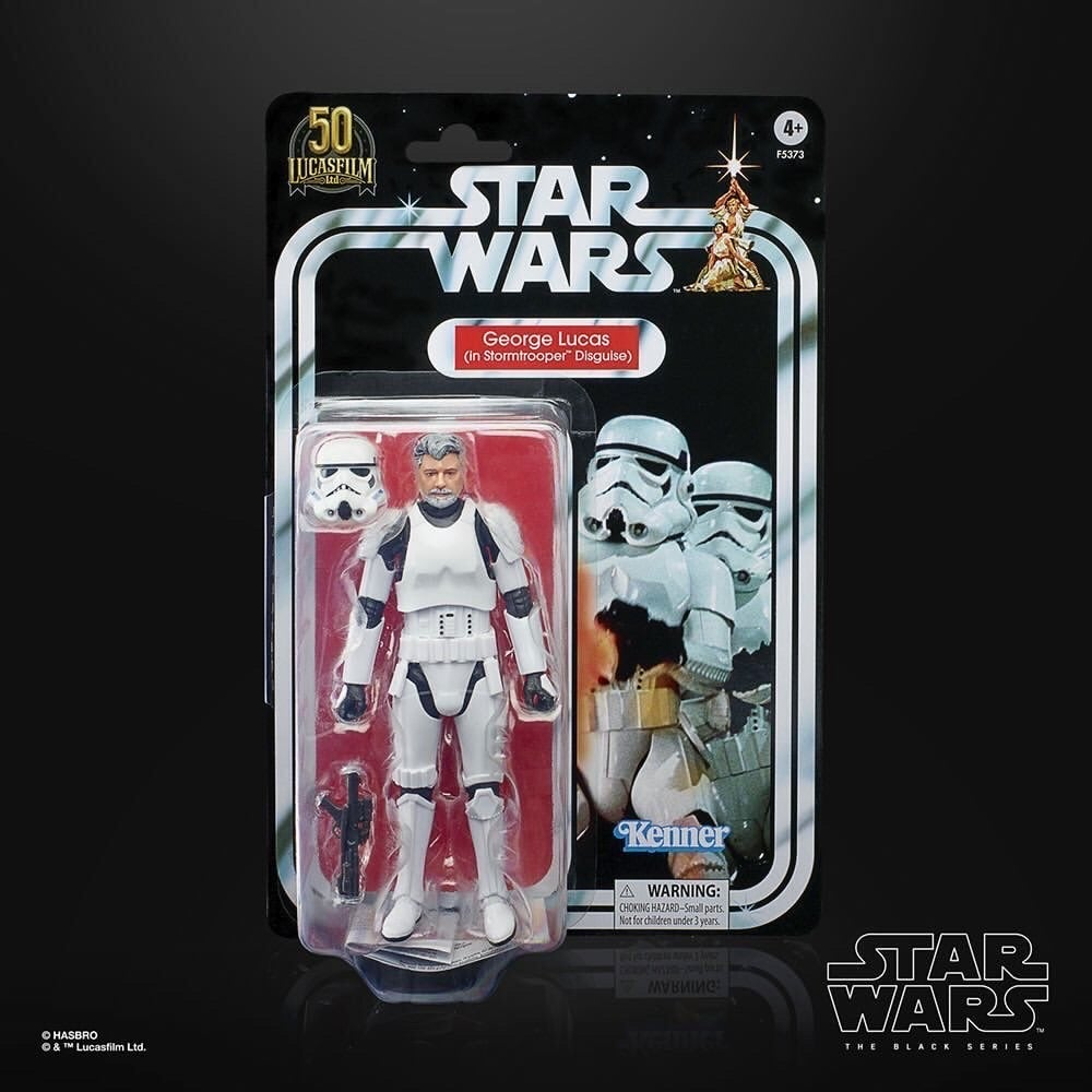 Image of Star Wars The Black Series 50th Anniversary LFL George Lucas (Storm Trooper disguise) Exclusive!