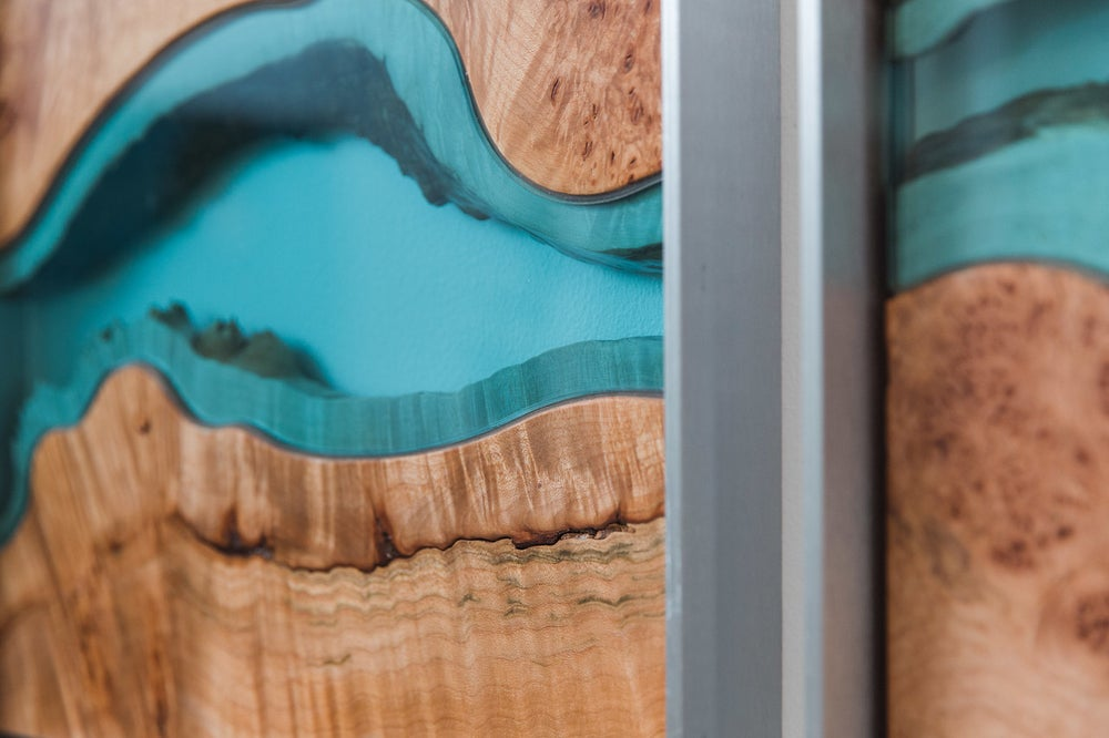 Image of river divided - quilted maple