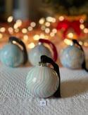 Marbled Ornaments - Yuletide