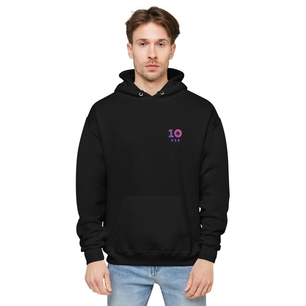 Image of Purple 10X Unisex Fleece Hoodie