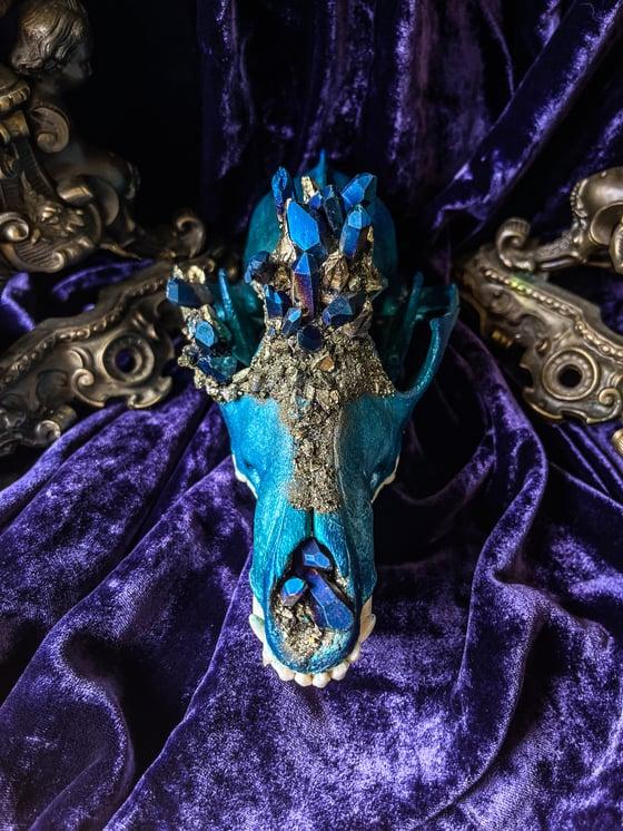 Image of Blue Titanium Quartz - Coyote Skull