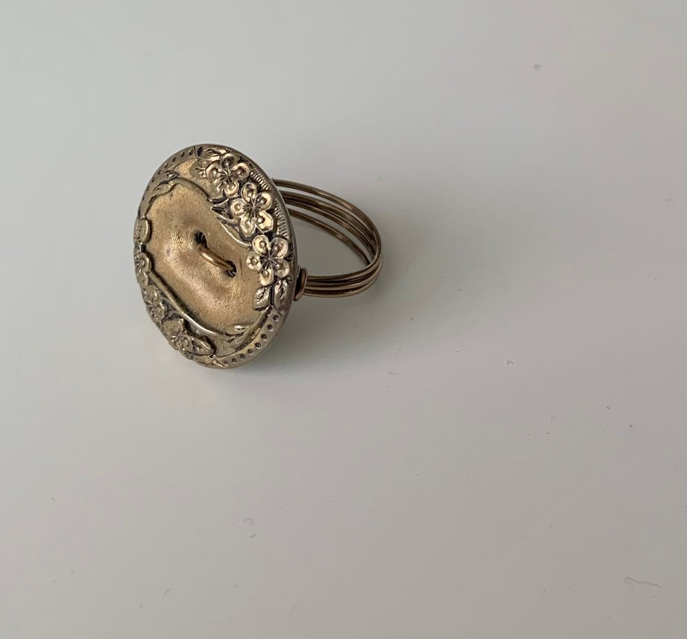 """Image of """"The Golden Child"""" Statement Button Ring"""