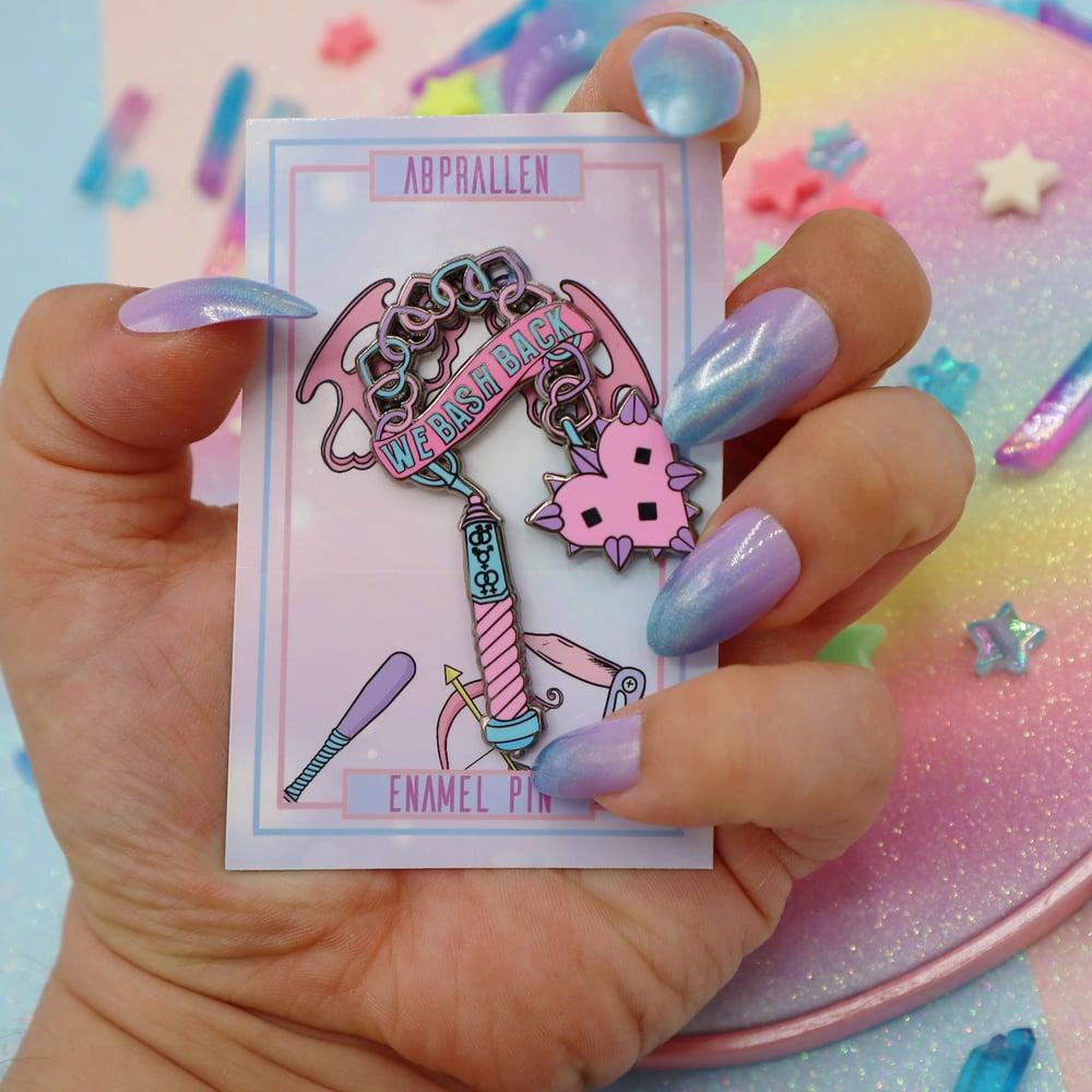 Image of We Bash Back enamel pin