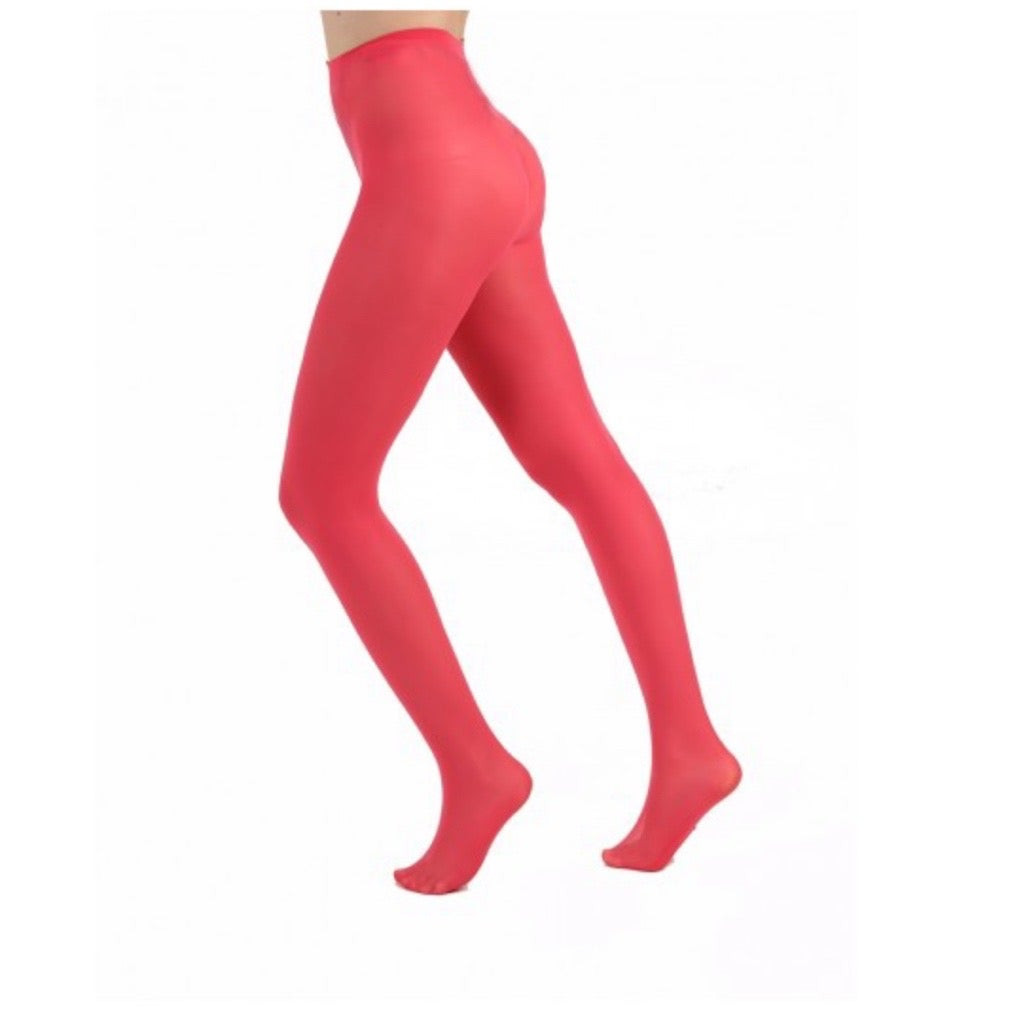 Coral Opaque Tights with Free Postage