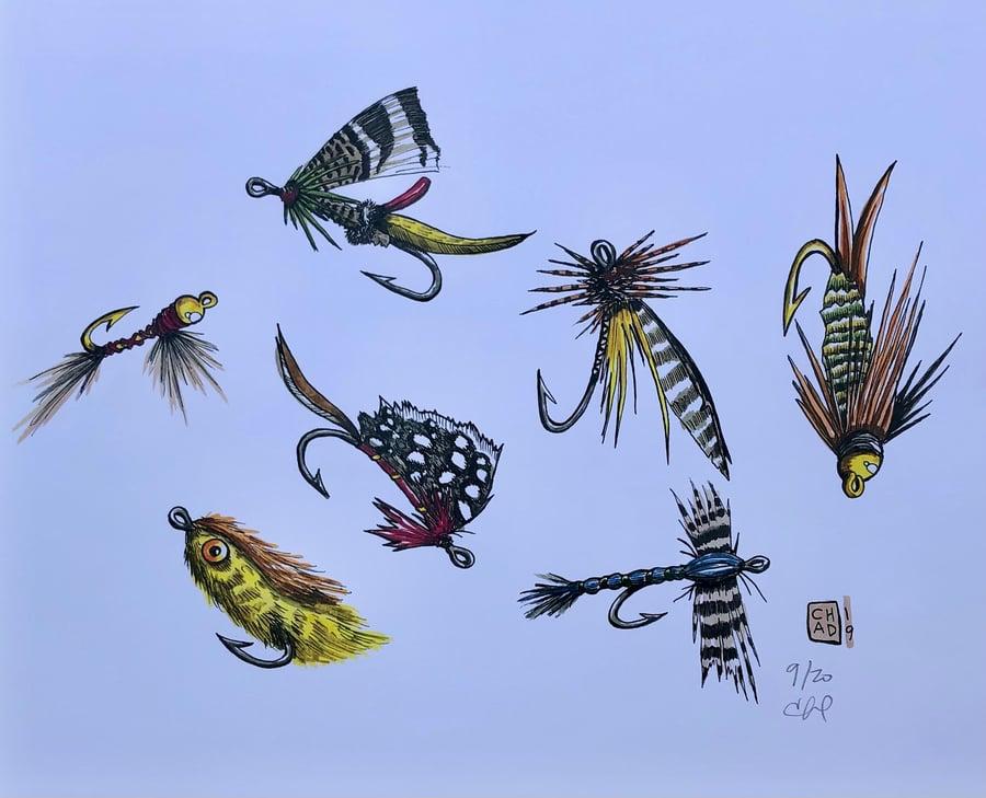 Image of THE FLIES……. 11x14 (print)