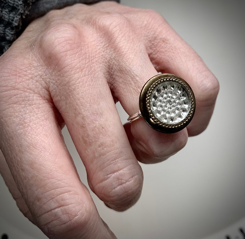 """Image of """"Introspective"""" Statement Button Ring"""