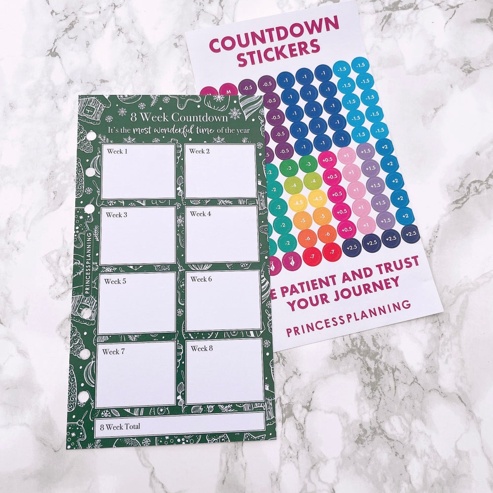 Image of PETITE PLANNER - 8 WEEK COUNTDOWN WITH STICKERS IT'S THE MOST WONDERFUL TIME OF THE YEAR -