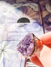 Amethyst cluster ring #1 - silver setting.