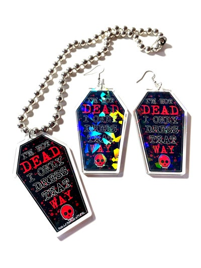 Image of Boy Division Earrings and Necklace Set