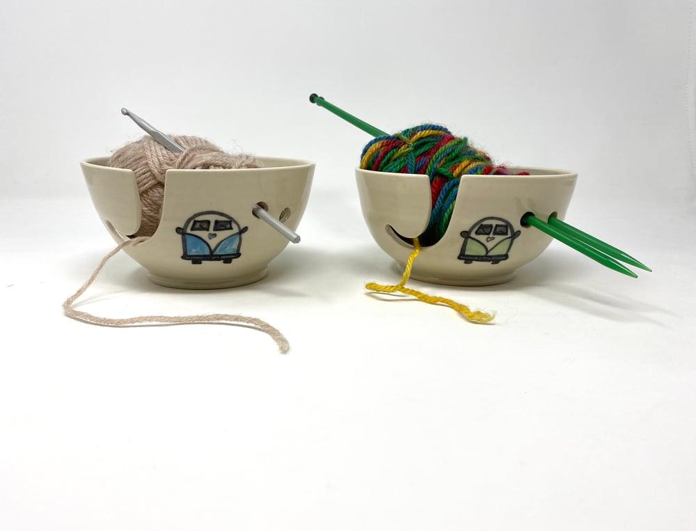 Image of Campervan Decorated String Bowl