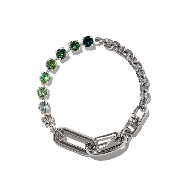 Image of ARMO - Crystal + Chain Bracelet 03 (6mm)