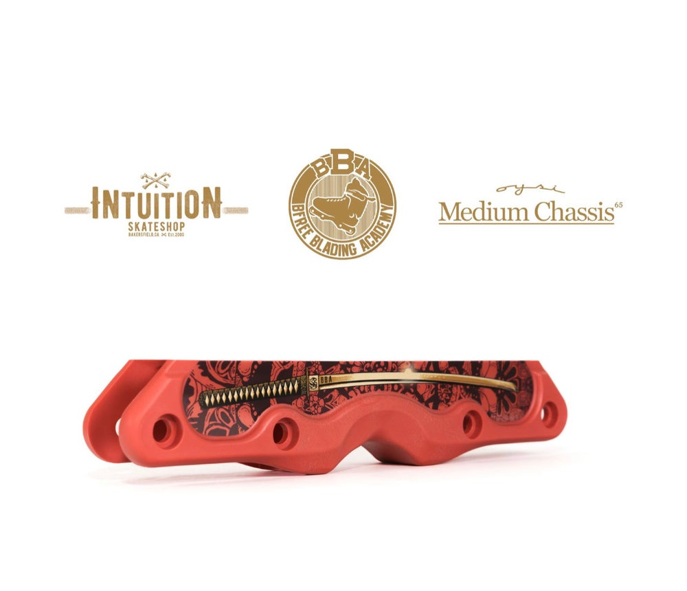 """Image of BBA X OYSI X INTUITION SKATESHOP """" The Warrior"""" Frame RED size Medium 269m"""