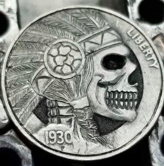 Image of Chief skull nickel