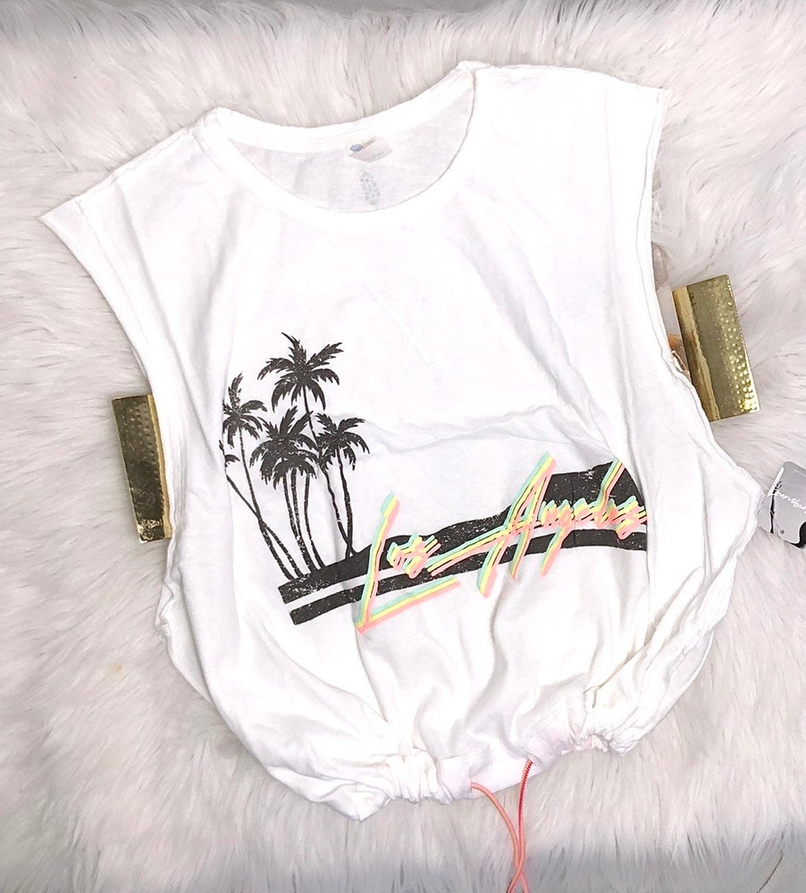 Image of Free People Cropped Los Angeles Graphic Tee