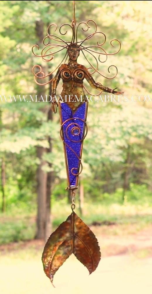 Image of Copper Mermaid Wind Catcher - Wind Spinner