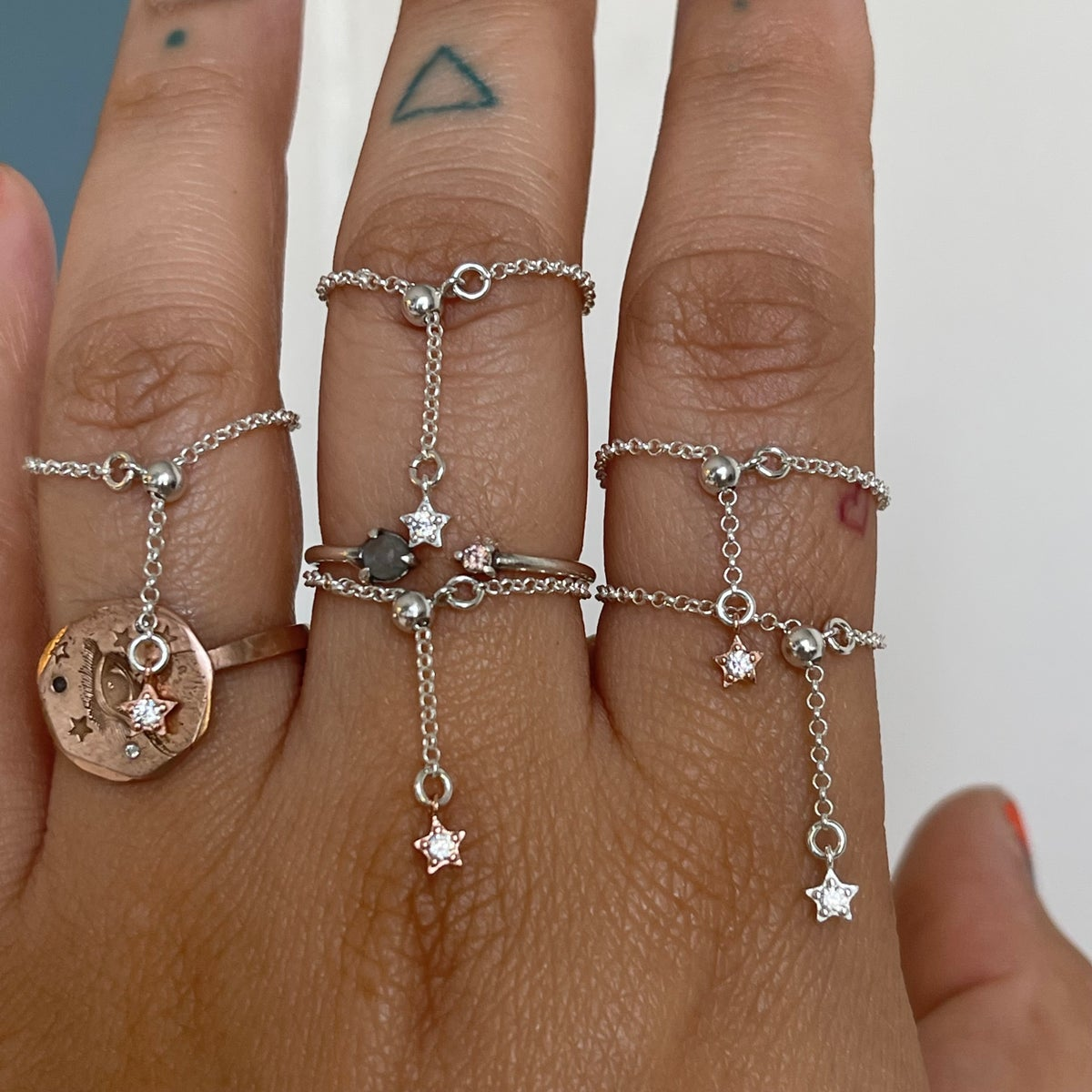 Image of Adjustable chain and star ring