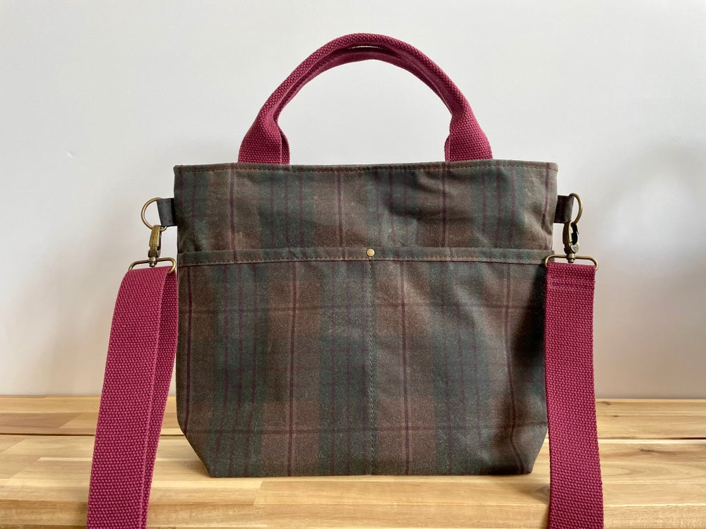 Image of PRE-ORDER Plaid Crafting Crossbody Tote