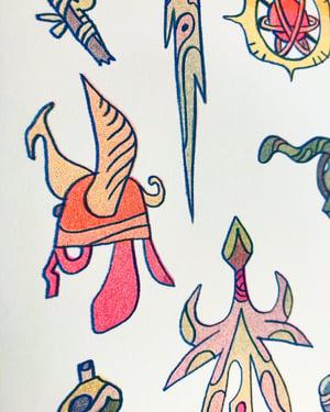 Fairy Sword Risograph print