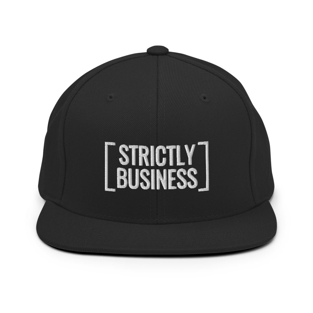 Strictly Business Snapback Hat