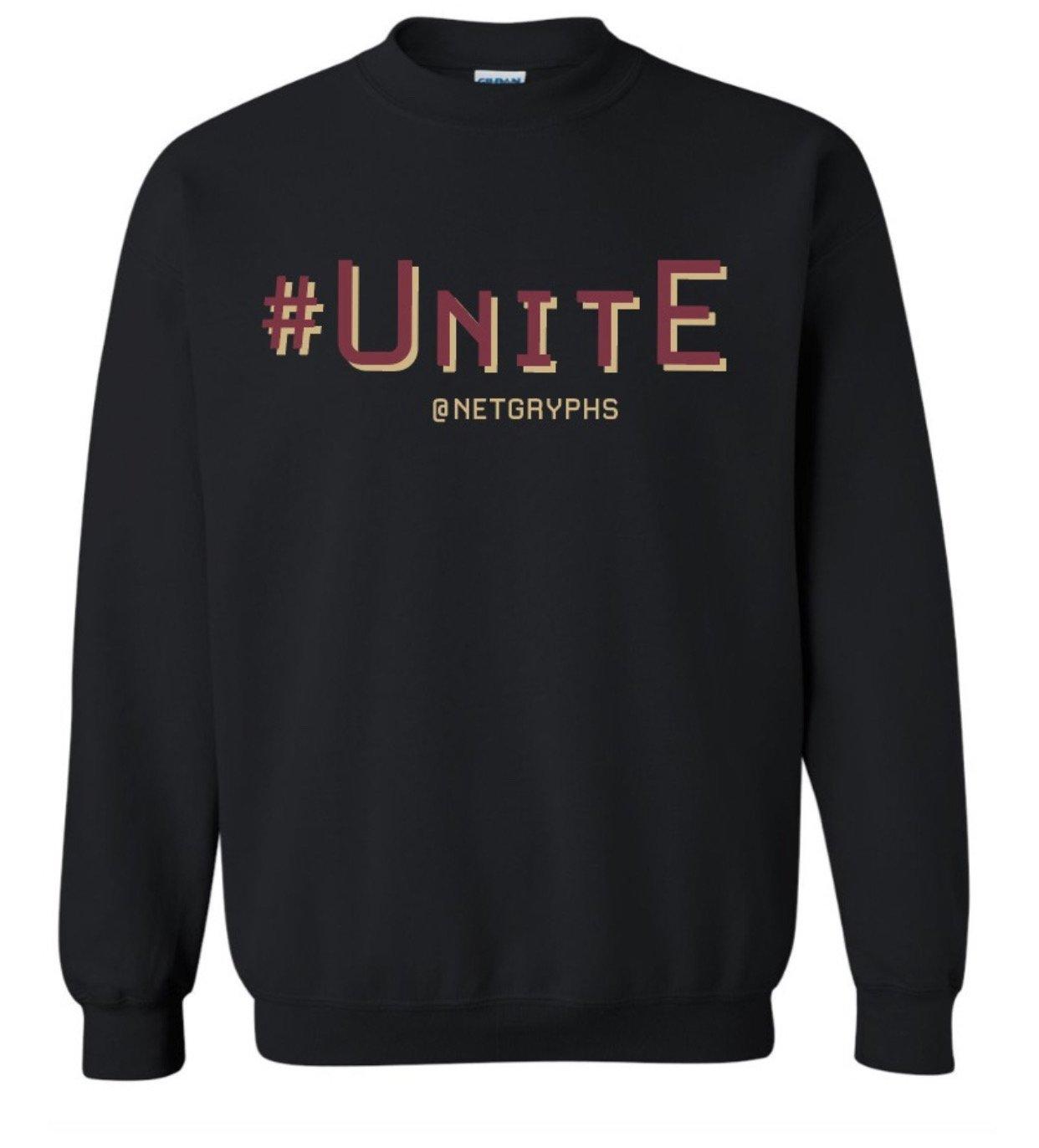 Image of #UNITE- SG Crewneck Sweatshirt (BLACK)
