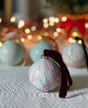 Marbled Ornaments - Merry