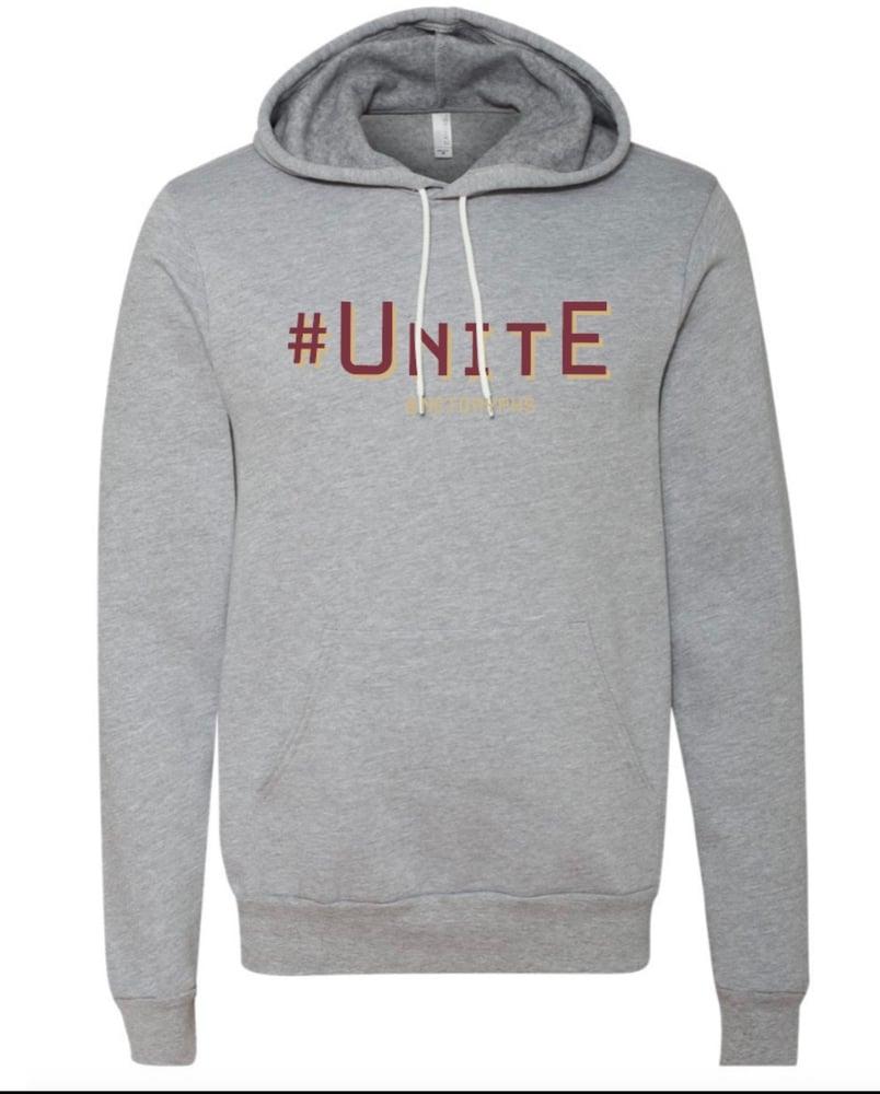Image of #UNITE - SG Lightweight Sponge Fleece Hoodie (Light Heather Grey)