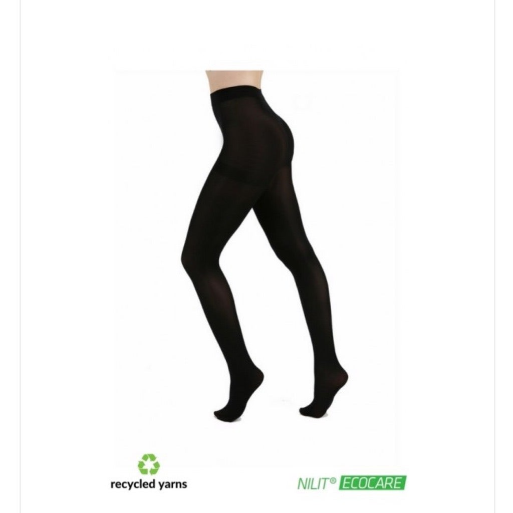 Recycled Yarn Black tights with free postage