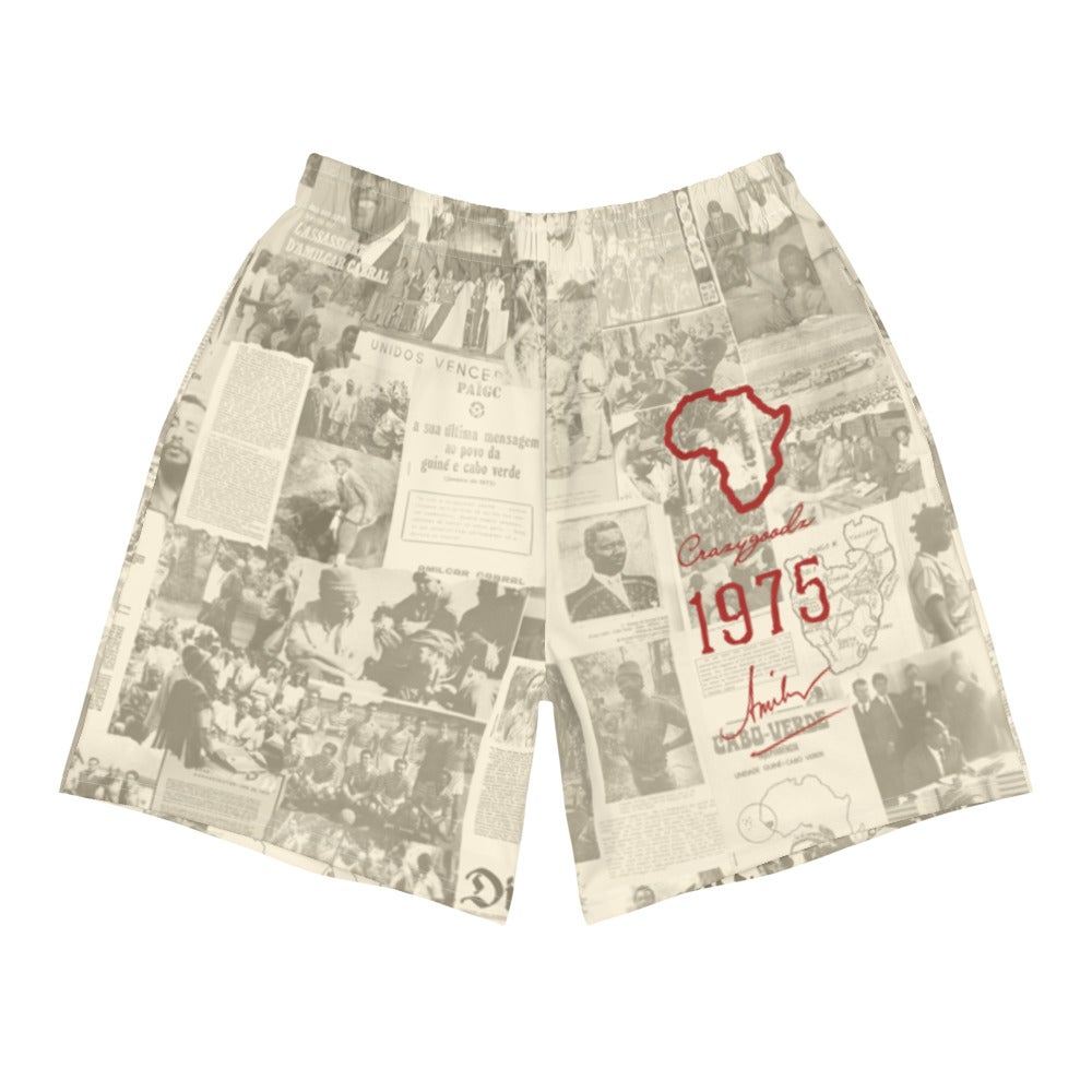 Image of The Rebel Daily News Cream Athletic Shorts