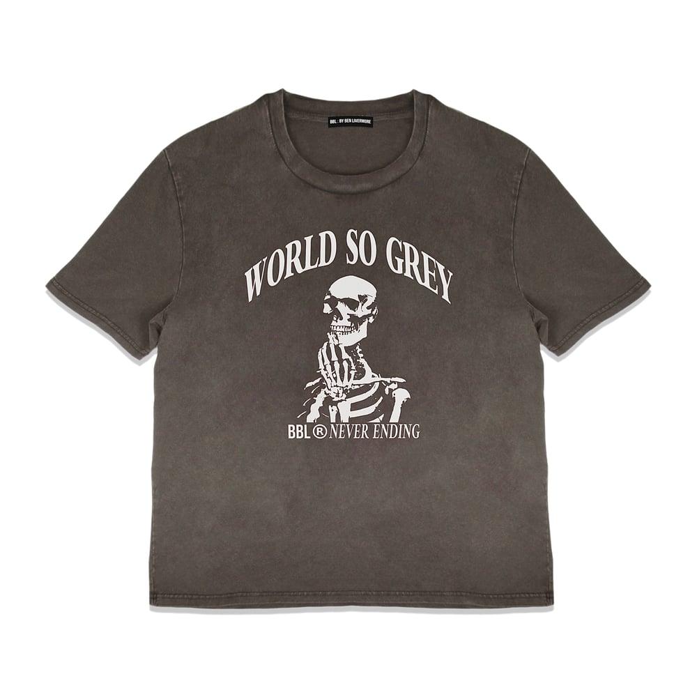 Image of World So Grey T-Shirt (Vintage Chocolate)