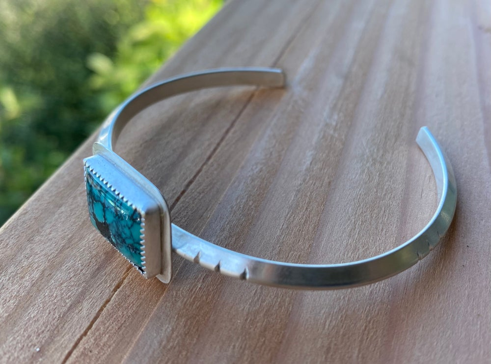 Image of Sterling Silver+Turquoise Cuff #2